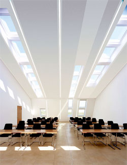 Commercial Skylights in a Classroom